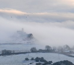 January - St.Michael's in the mist, photo by Mike Whitfield